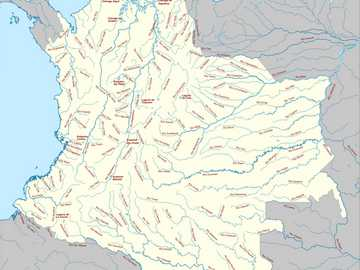 Rivers of Colombia - Map of Colombia with its most representative rivers.
