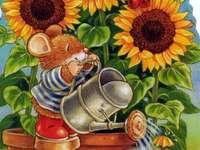ღ ೋ ღ Bewässerung der Sonnenblumen ೋ ღ