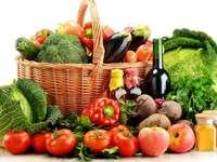 owoce, warzywa i soki