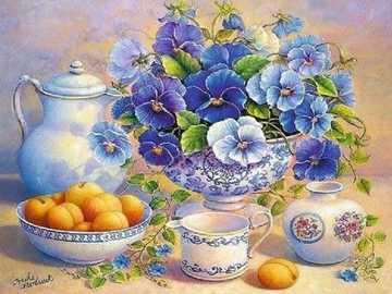 Blue bouquet. - << Painter's puzzle >>