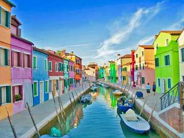 colorful houses in Italy - m ........................