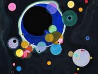 """Kandinsky - Work by Vasili Kandisnky called """"Some circles"""" created in 1926. A difficulty rated as &quo"""