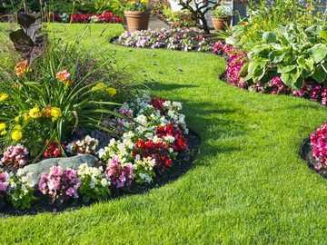 Garten Blumenbeete von Blumen - m ...................