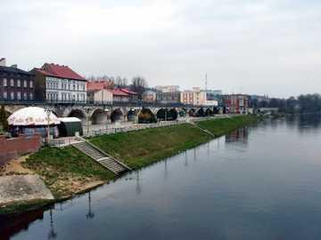 boulevard on the Warta river - west boulevard in Gorzów