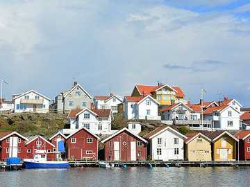 Bohuslän wooden houses by the water Sweden - Bohuslän wooden houses by the water Sweden