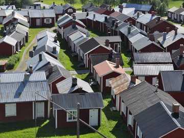 Gammelstad Sweden - Gammelstad wooden houses Sweden