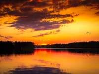 Jämtland Sunset Svédország