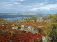 Saltoluokta táj Svédországban