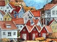 Svédország szigetei festmény