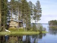 Faház Svédország tónál