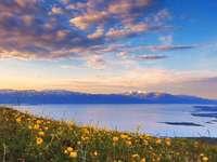 Lacul din Parcul Național Abisko din Suedia