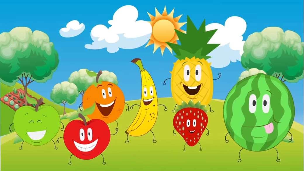 Finom gyümölcsök - Szerelje össze a puzzle-t (3×2)