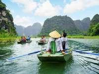 vietnam, folyó, csónakok