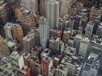luchtfoto van gebouwen - New York, Empire State Building. New York, Verenigde Staten