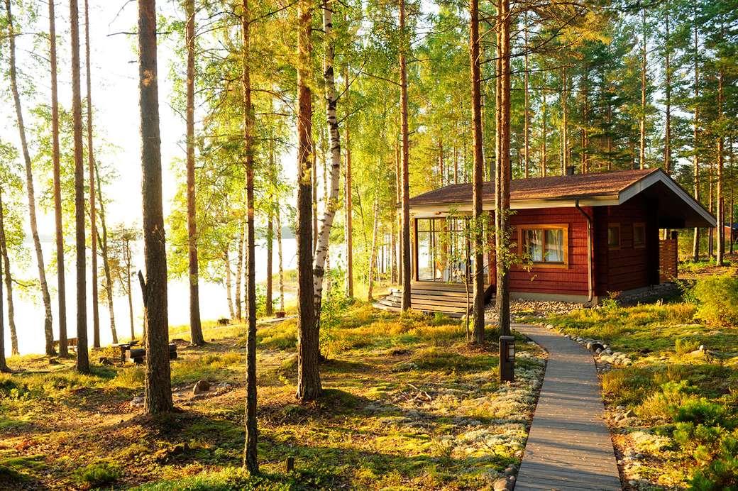 Víkendház a tónál, Finnországban (6×4)