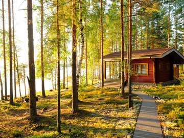 Cottage by the lake in Finland - Cottage by the lake in Finland