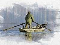 az ember a hajón