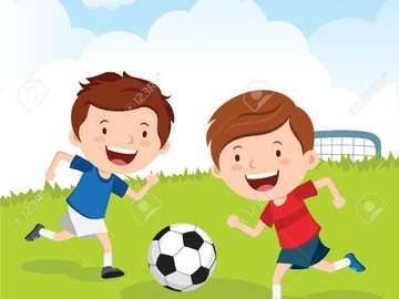 PLAYING FOOTBALL - CHILDREN PLAYING FOOTBALL
