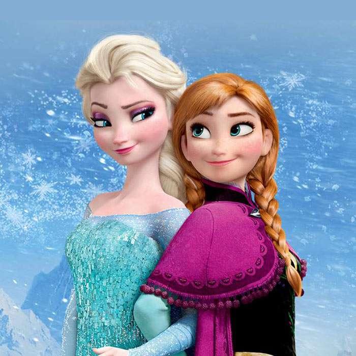 pussel frysta anna och elsa - Anna och Elsa frysta pussel för att spela lätt (3×3)
