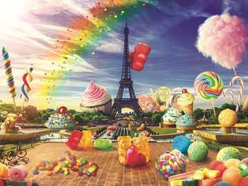 Sweet Paris. - Landscape puzzle.