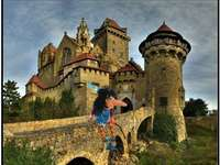 The witch and the castle - Puzzle of the witch in the castle.