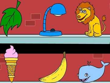 L jest dla lampy liściowej lew lody bananowy wieloryb - lmnopqrstuvwxyzlmnop