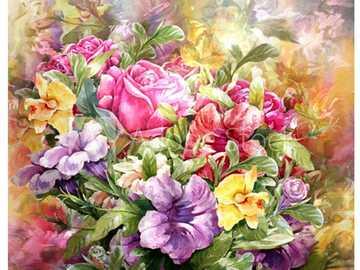 kompozycja - piękna kwiatowa kompozycja