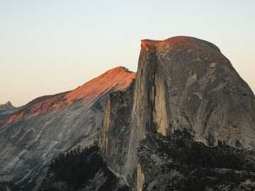 bird's-eye view photography of rock formations - My friend and I drove for four hours from San Francisco to Yosemite Valley, California, and when we