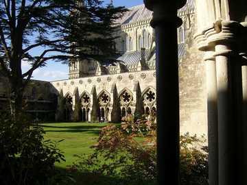 architecture - church - cloisters - sun