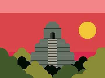 Le Grand Jaguar - C'est une pyramide maya, au centre du Petén au Guatemala