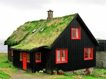 norway- a house covered with grass - m .........................