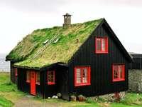 norvegia- casa coperta di erba - m .........................