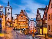 The town of Rothenburg - Germany, the town of Rothenburg