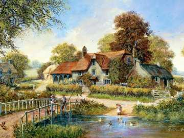 Painting the village. - Painting puzzle ...