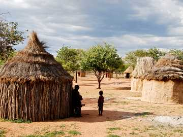 houses in an African village - m ......................