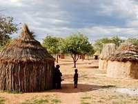 házak egy afrikai faluban