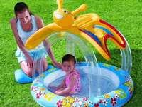 φουσκωτή πισίνα με σκίαστρο - Μ ........................