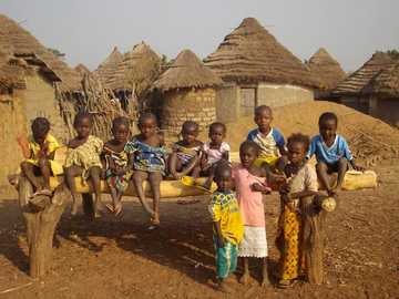 people in the African village - m ......................
