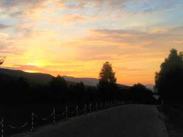 mountain panorama - sunset - Bieszczady