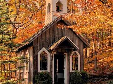 Capilla en el bosque de Victoria Sheldon - Capilla en el bosque de Victoria Sheldon A New Hope, Wisconsin, EE.