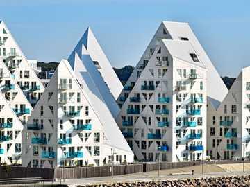 Aarhus city in Denmark Modern residential complex - Aarhus city in Denmark Modern residential complex