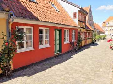 Fionia en Dinamarca - Fionia pintorescas casas en Dinamarca