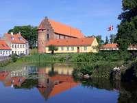 Ciudad de Nyborg en Dinamarca