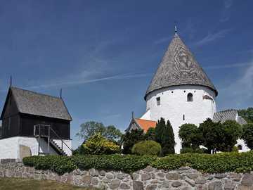 Olsker round church on Bornholm Denmark - Olsker round church on Bornholm Denmark
