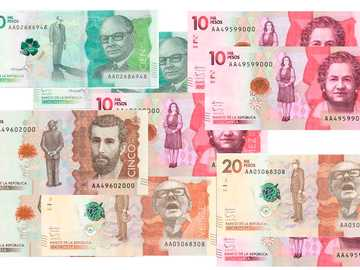Colombian banknotes - Find the Colombian banknotes