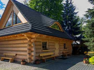 wooden house in the mountains - m ....................