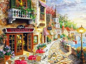 Promenade. - Landschaftspuzzle.