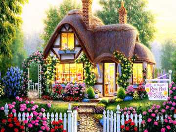 Painted house. - <Painting puzzle>