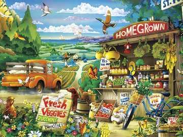 Stoisko z warzywami - Homegrown Fresh Veggies
