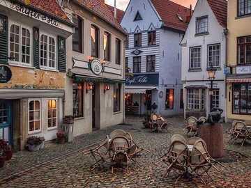 Coloridas casas en el histórico Schnoorviertel de Bremen - Casas coloridas en el histórico Schnoorviertel en Bremen, Alemania.